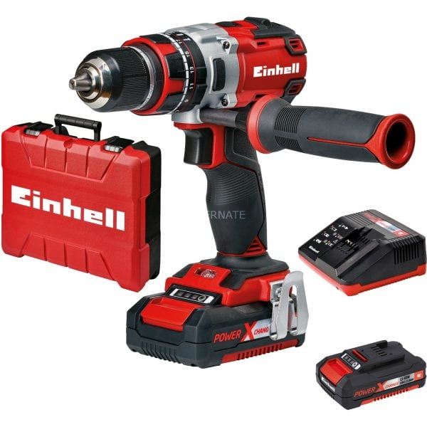 Einhell TE CD 18 Li i BL Keyless Aluminium Black Red 1 69 kg  Impact screwdriver@@9wbaee44