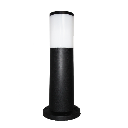 amelia 400mm black opal led 6w bollard post light
