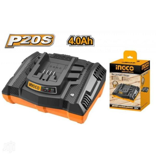 ingco 20v 4ah fast intelligent charger fcli2003
